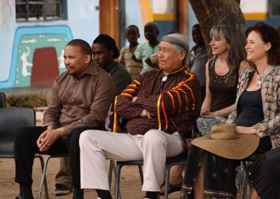 Linda with High Chief Francois Paulette and King Holomisa