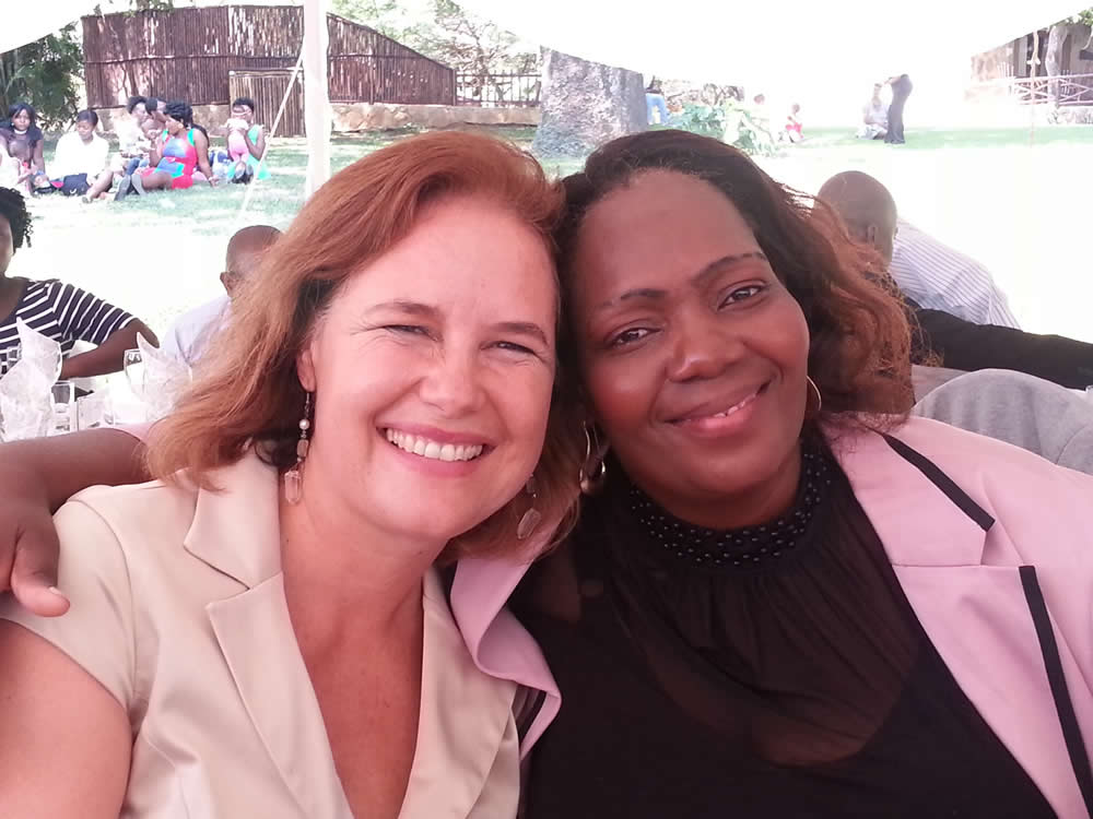 Linda Tucker and Princess Kabelo