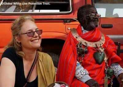 Linda with Credo Mutwa