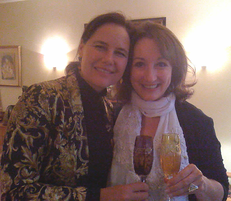 Linda with Sheryl Leach - USA Patron - Creator of Barney the Purple dinosaur