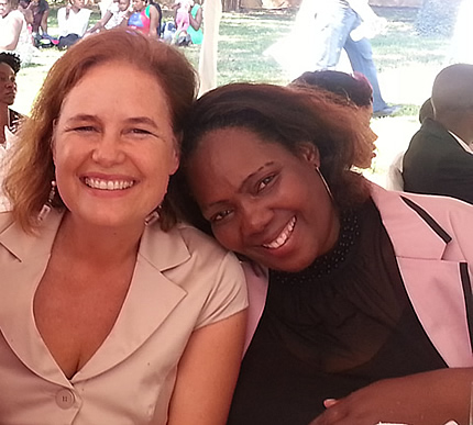 Linda Tucker and Princess Kabelo, Patron of the Leadership Academy